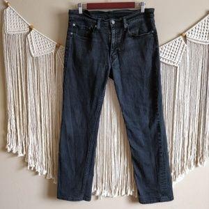 LEVI'S 514 Black Denim Straight Jeans W34 L30